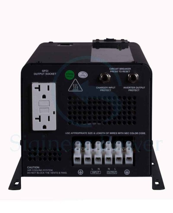 3000 Watt Inverter Charger 12 Volt to 110V 120Vac With Built-in Transfer Switch & GFCI Pure Sine Wave (2)